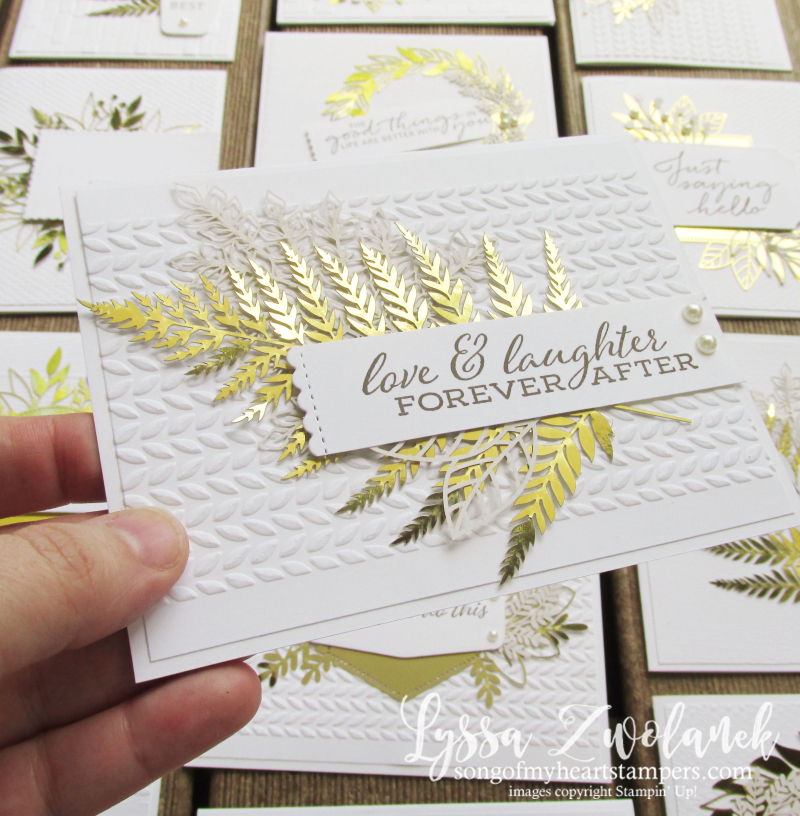 Forever fern gold foil leaves leaf laser cut specialty papers Stampin Up