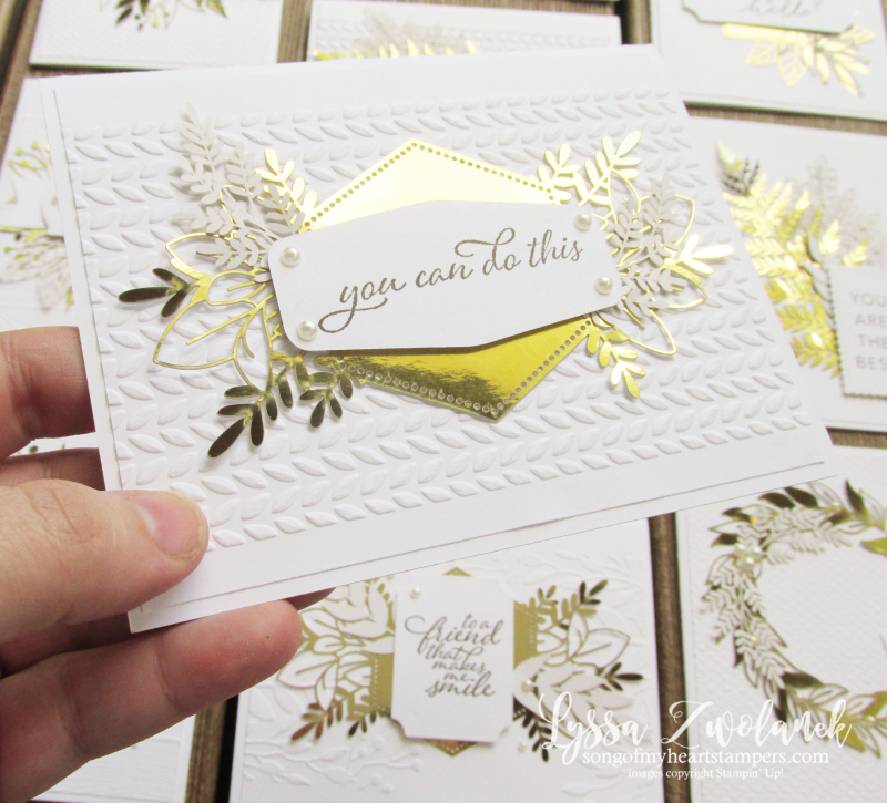 Forever fern gold foil leaves leaf laser cut specialty paper Stampin Up