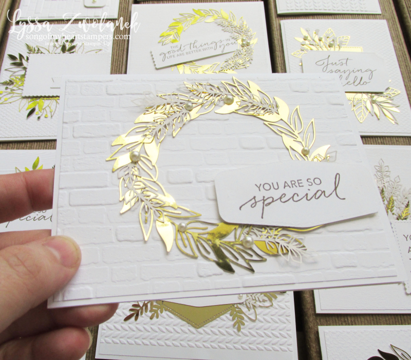 Forever fern gold foil leaves leaf laser cuts specialty paper Stampin Up