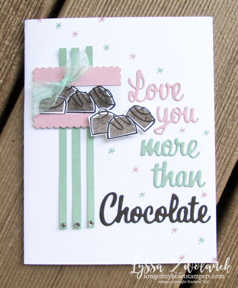 Nothing better than chocolate coffee cookies Stampin Up rubber stamps cardmaking supplies DIY