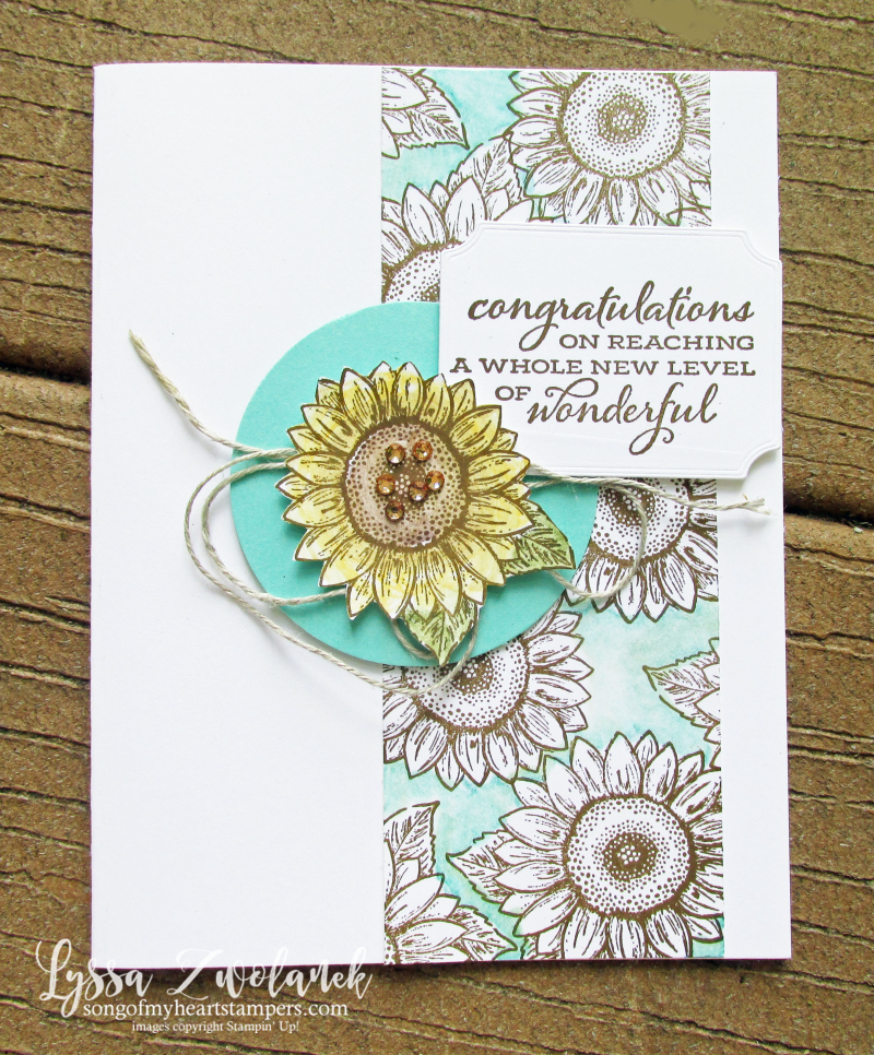 Serene Sunflowers field Stampin Up farm wreath rubber stamps