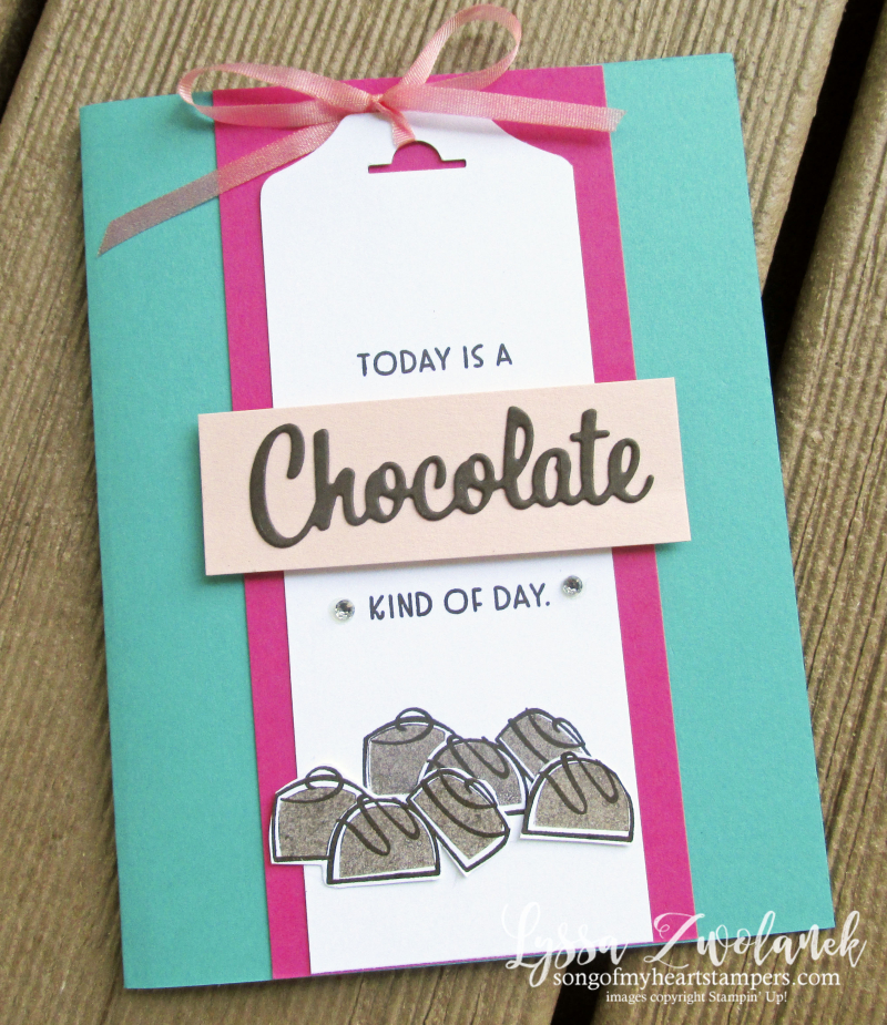 Nothings better than chocolate coffee cookies Stampin Up rubber stamps cardmaking DIY