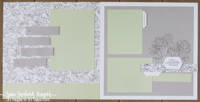 31 Pages Days Prized Peony Garden layout scrapbook page album 12x12 Stampin Up