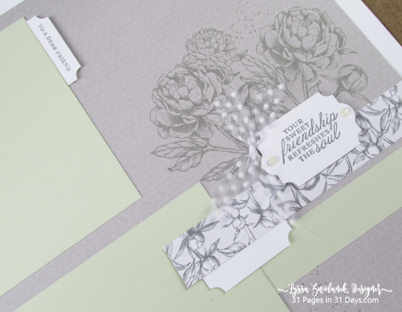 31 Pages Days Prized Peony Garden layout scrapbook pages album 12x12 Stampin Up