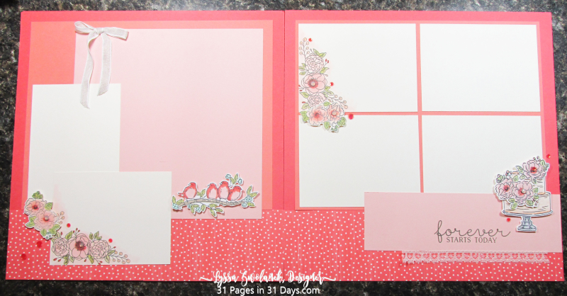 31 days pages scrapbooking layouts series Lyssa Z Stampin Up 12x12 albums