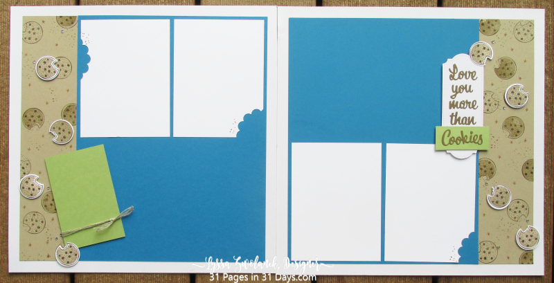 31 pages days Stampin Up scrapbooking with stamps cookie monster nothings better than