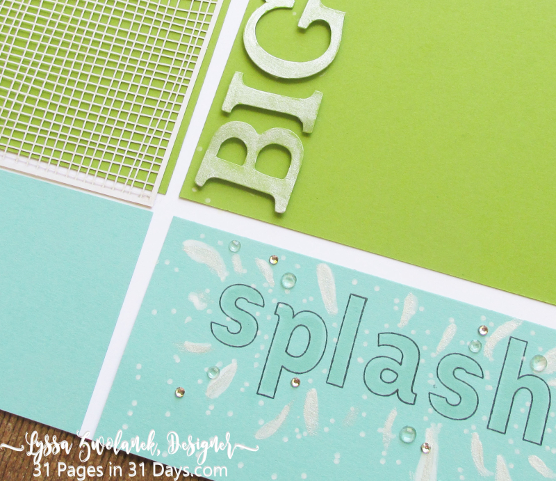 31 days pages scrapbooking layouts pool party beach Lyssa Stampin Up 12x12 albums