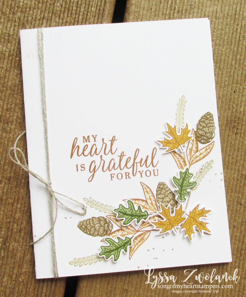 Beautiful Autumn punch pack Stampin' Up fall leaves oak acorn maple Lyssa
