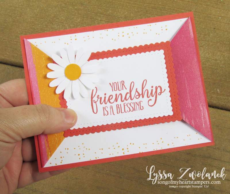 Artistry blooms folded front card technique tutorial DIY cardmaking ideas Lyssa daisy punch