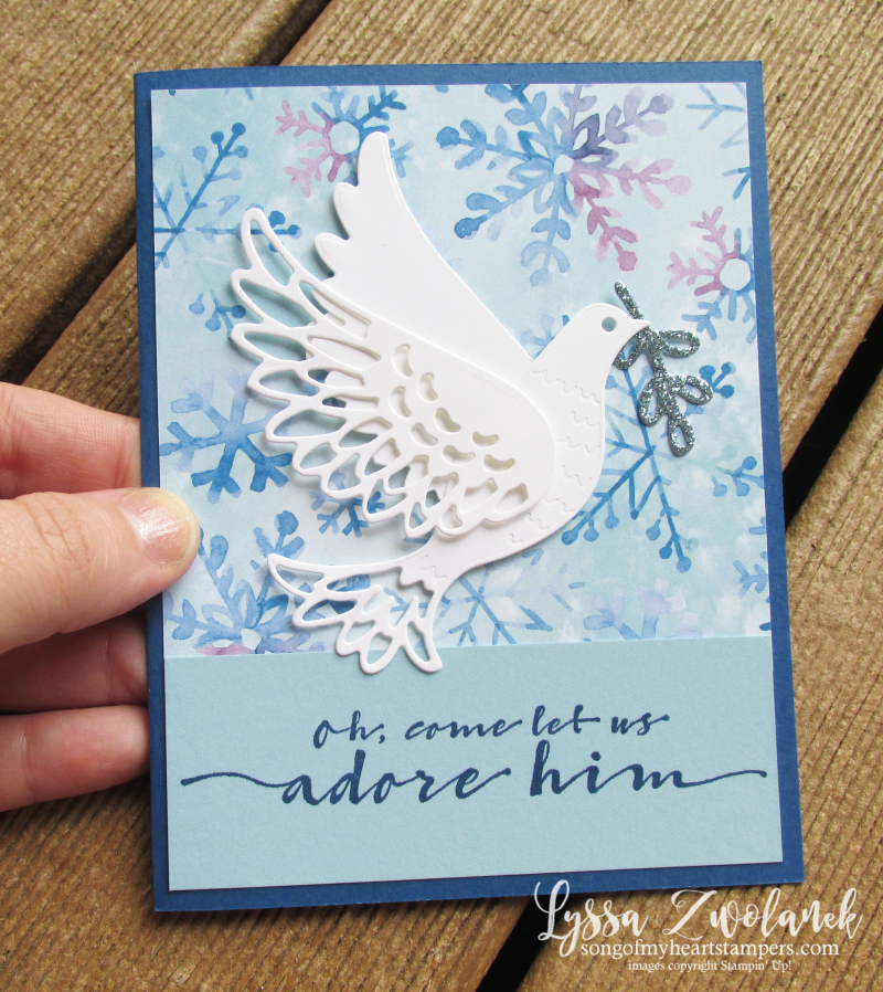 Dove of Hope peace on earth Stampin Up Christian Christmas holiday cardmaking kit stamps supplies