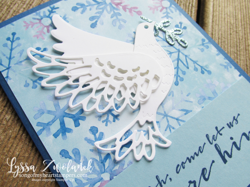Dove of Hope peace on earth Stampin Up Christian Christmas holiday cardmaking kits stamps supplies