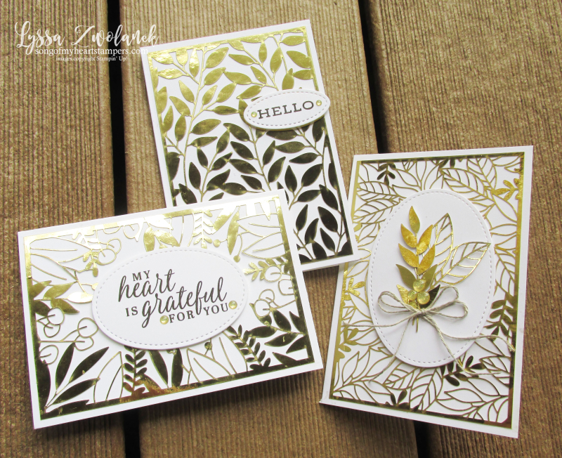 Forever greenery gold ferns Stampin Up Lyssa cardmaking supplies papers laser cut specialty  rubber stamps