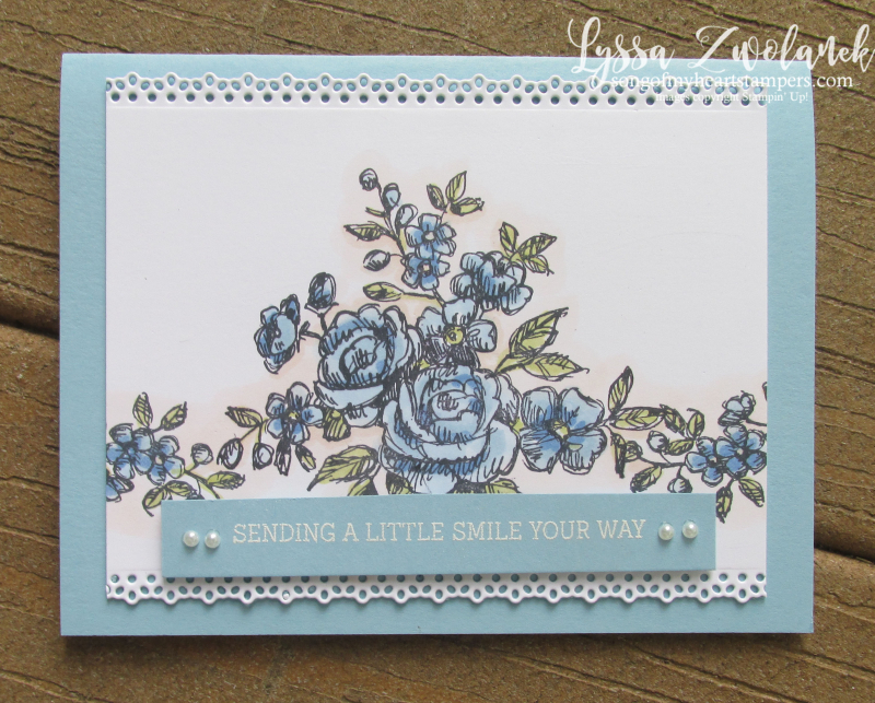 Fancy phrases Lyssa Stampin Up class roses Blends lace embossing ovals ornate
