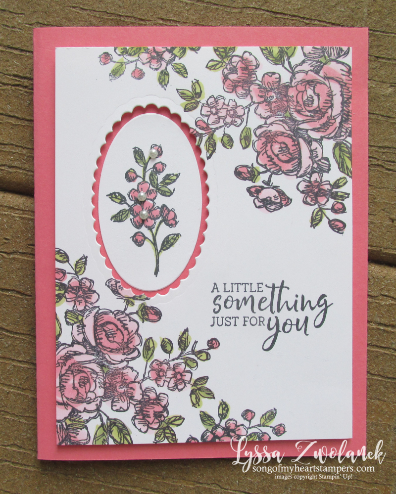 Fancy Floral Phrases Stampin Up Lyssa class cardmaking techniques tutorials frames dies ovals supplies