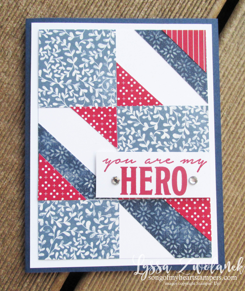 Honor Flight patriotic mail call cards veterans charity project Lyssa Stampin Up Heart SU technique scraps