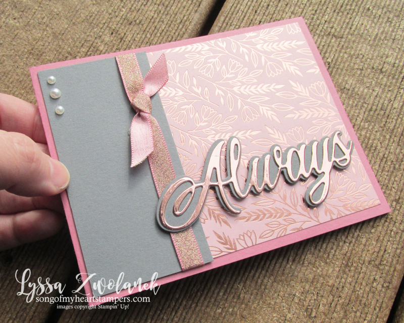 Love You Always Stampin Up true valentine hearts dies wedding anniversary DIY cardmaking Lyssa