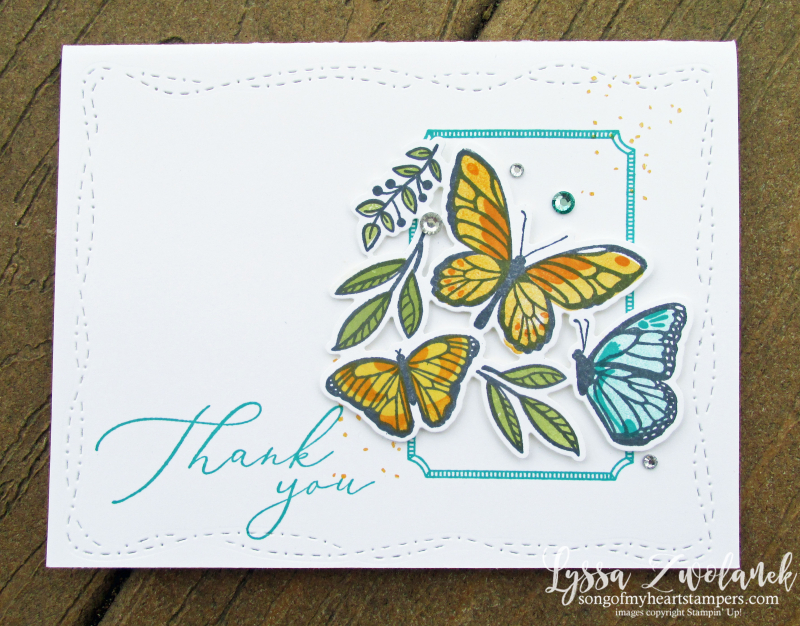 Floating Fluttering butterflies Stampin Up spring stitched whimsy Heal Heart SAB Lyssa
