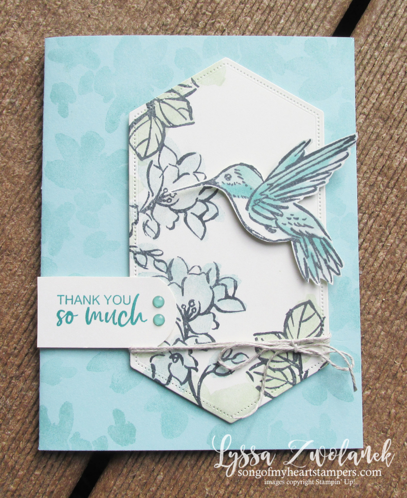 Touch of ink humminbird gardenia Stampin Up watercolor 2 step rubber stamping SAB cardmaking ideas
