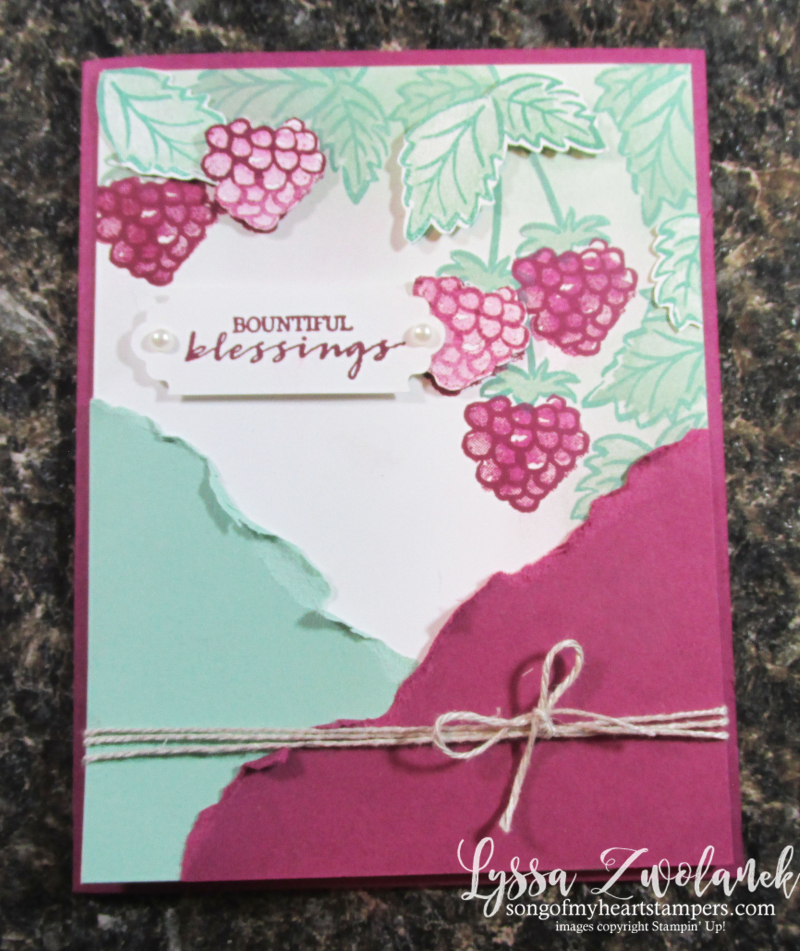 Berry Best SAB saleabration Stampin Up free stamp set Lyssa cardmaking rubber papers supplies