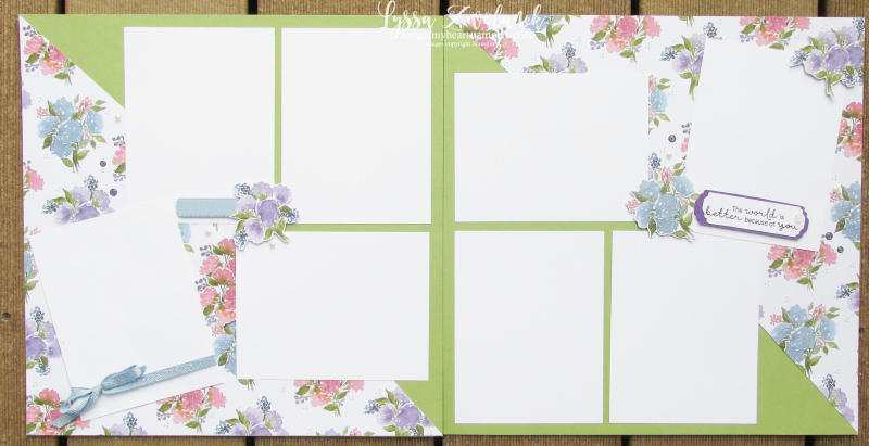 Haven Hydrangea Hill Stampin Up Lyssa suite sampler free ideas layouts 12x12 scrapbooking paper