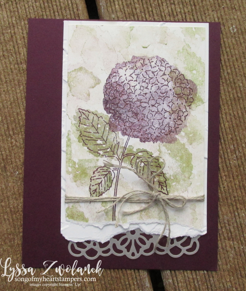 Hydrangea Haven Hill Stampin Up Lyssa class suite sampler subscription 12x12 scrapbook paper DIY cards