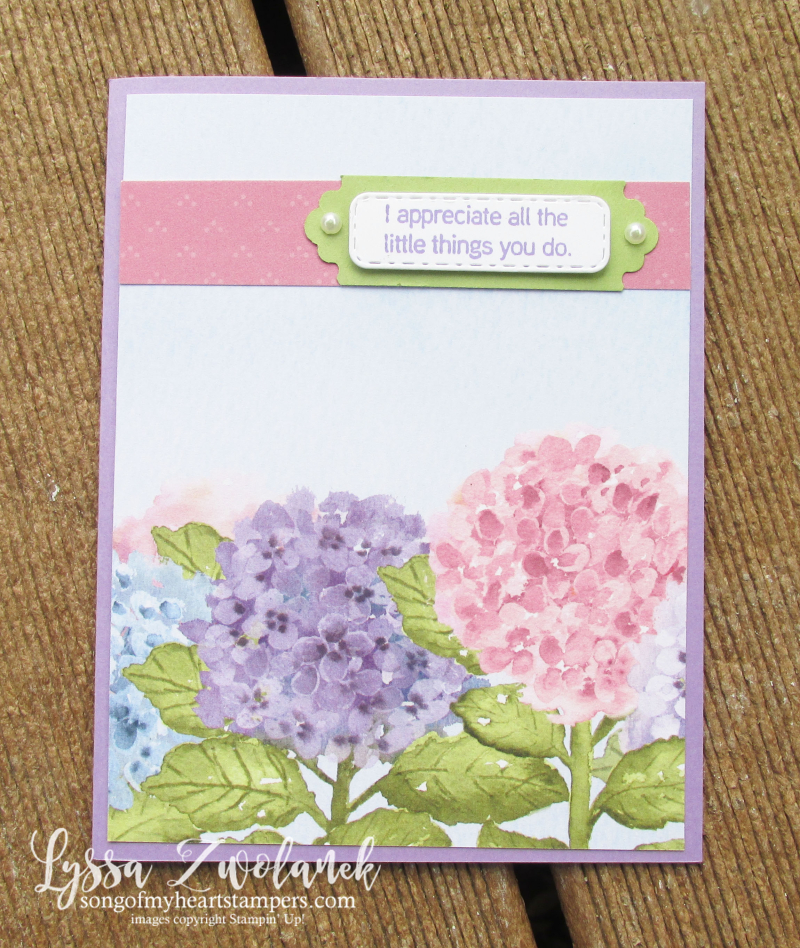 Hydrangea Haven Hill Stampin Up Lyssa class suite sampler subscription 12x12 paper DIY cards