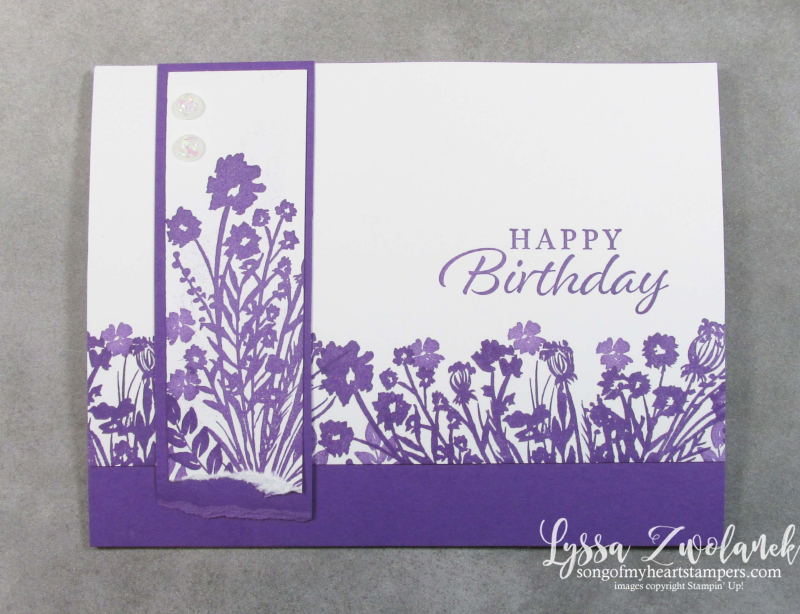 Corner bouquet Saleabration 2021 Stampin Up envelope garden rubber stamping simple layout