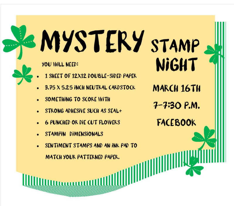 Mystery stamp night march 2021