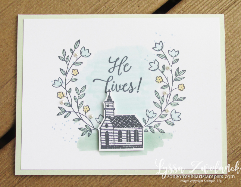 Gift of Hope Easter ressurection Sunday rubber stamps Stampin Up DIY Lyssa cardmaking