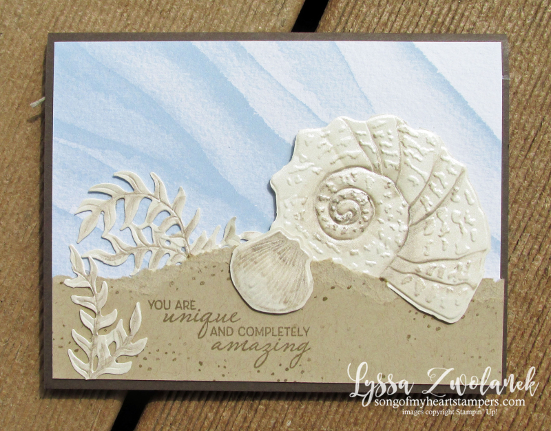 Sand sea shore Lyssa Stampin Up beach ocean shell rubber stamps supplies DIY cardmaking