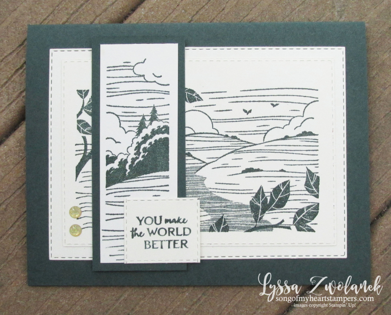 Evening Evergreen forest hunter green better place hostess set host ideas Stampin Up demo free party