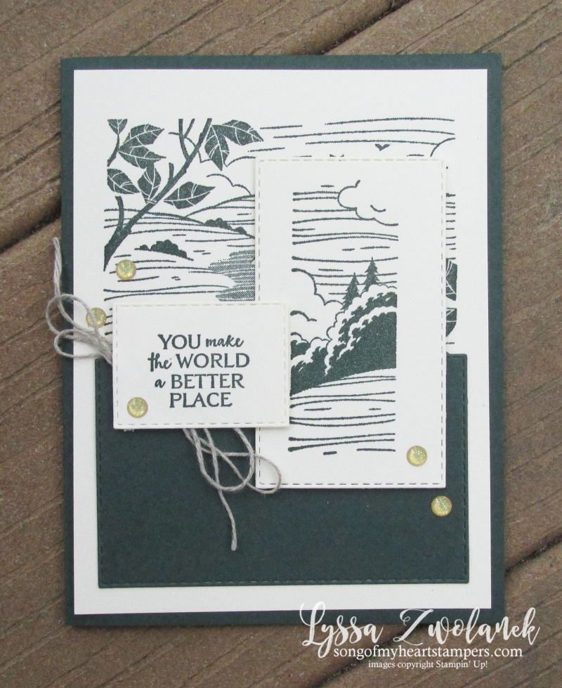 Evening Evergreen forest hunter green better place hostess set host Stampin Up party