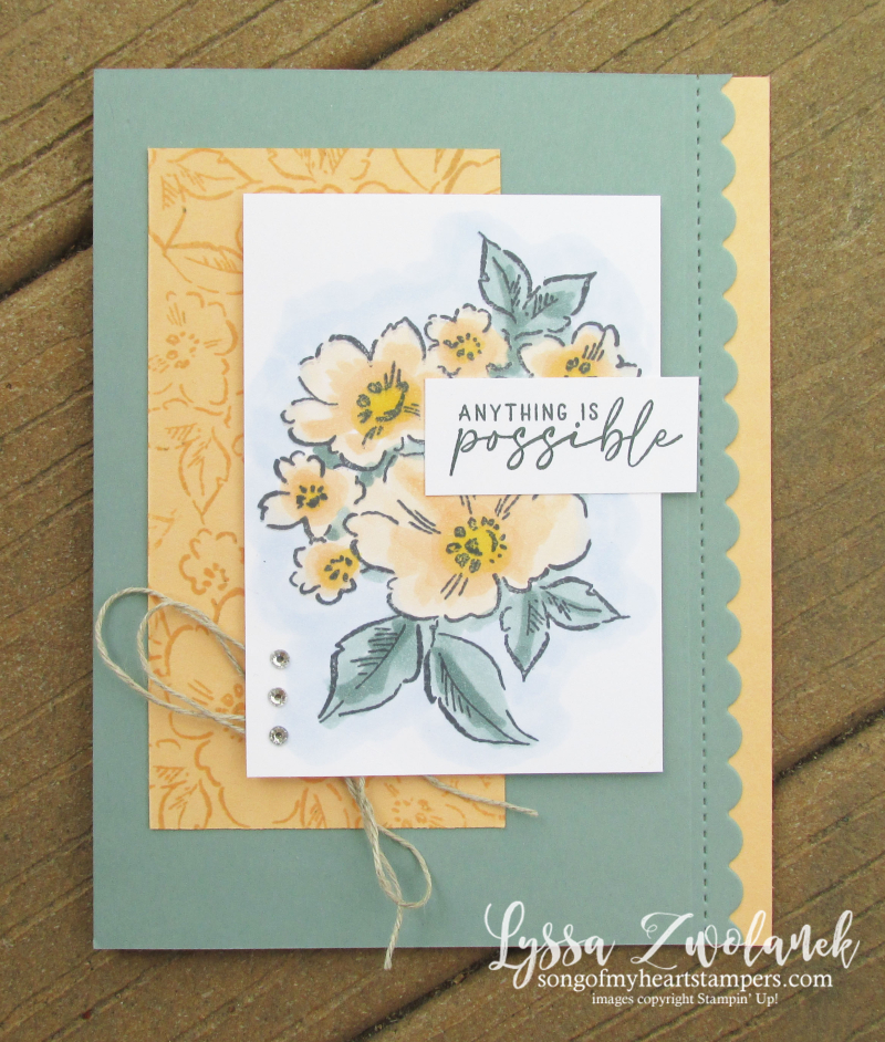 Pale Papaya Stampin Up hand penned petal paper supplies inks ideas tutorial