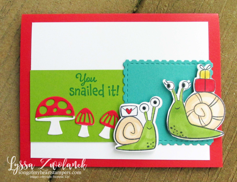 Snail Mail funny rubber stamps Stampin Up cardmaking DIY make your own birthday