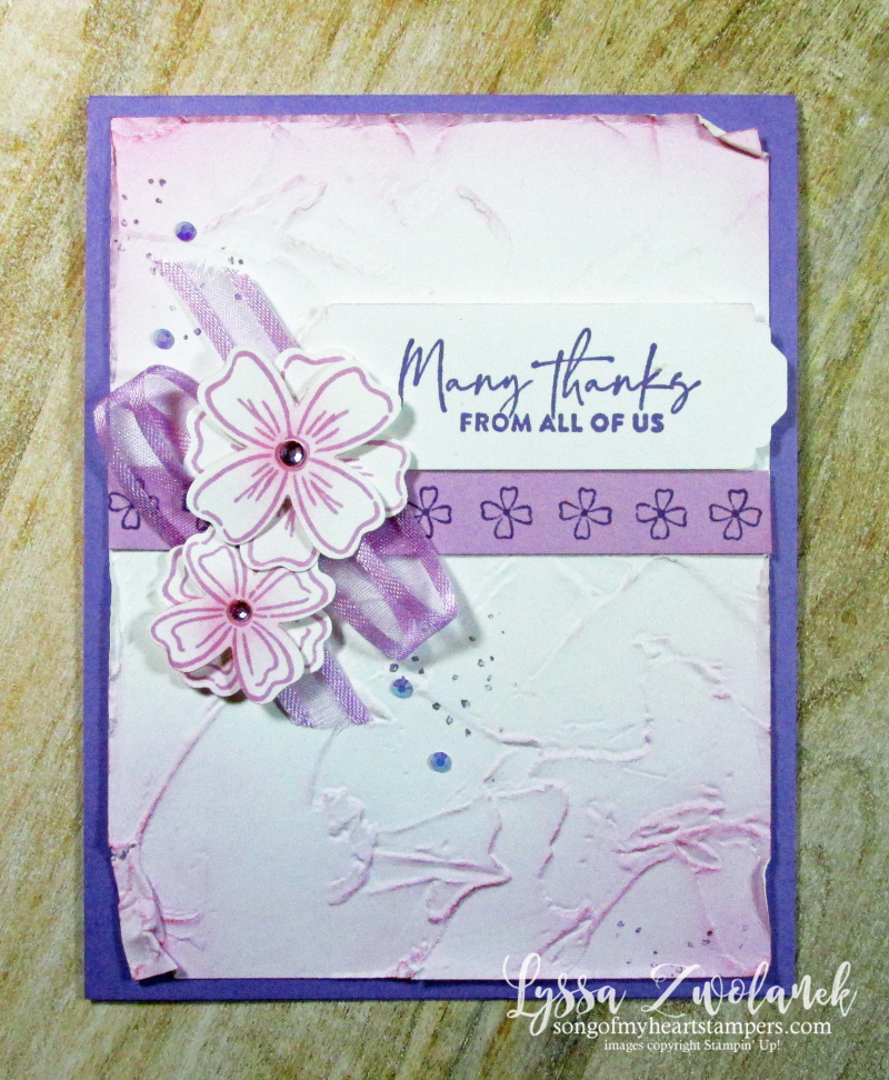 Flowers of Friendship Stampin Up floral punch blending brushes cardmaking ideas class Lyssa