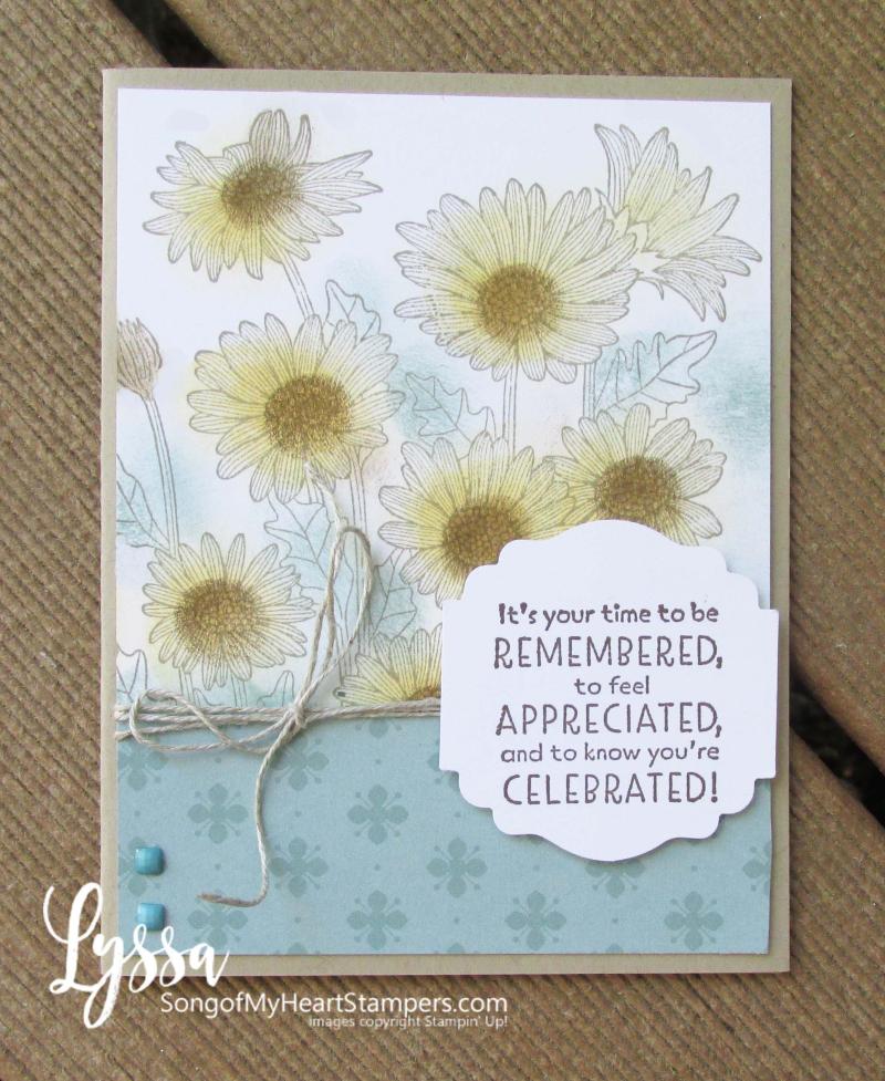 Daisy Garden blending brushes card Stampin Up Lyssa Soft Succulent sponge daubers