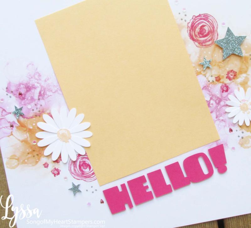 Suite Sampler Stampin Up Lyssa Papaya Expression Ink scrapbooking layouts album ideas
