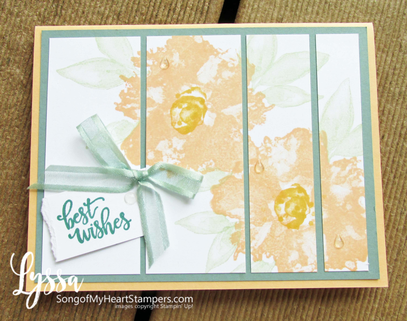 Artistic Expressions Ink Stampin Up class Lyssa tutorial suite cardmaking marble gold leaf cardstock stamps