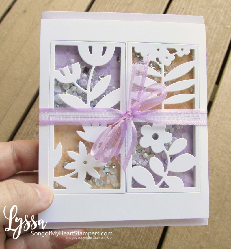 All Squared Away floral Stampin Up shaker card tutorial window sequins easter cardmaking