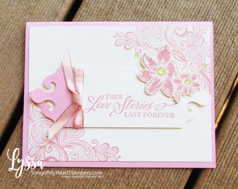 Simply elegant Stampin Up punch suite wedding anniversary formal invitations DIY cardmaking