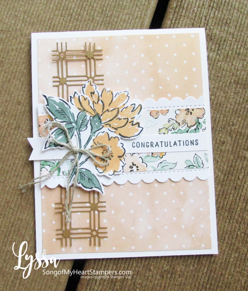 Hand penned petals Stampin Up suite sampler Lyssa memories more card lattice ideas