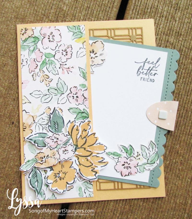 Hand penned petals Stampin Up suite sampler Lyssa memories more pocket fold ideas