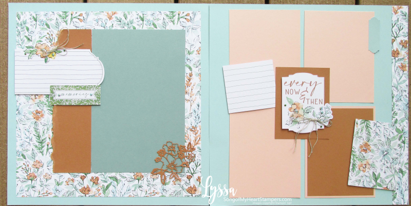 Hand penned petals page albums scrapbooking layout idea template Lyssa