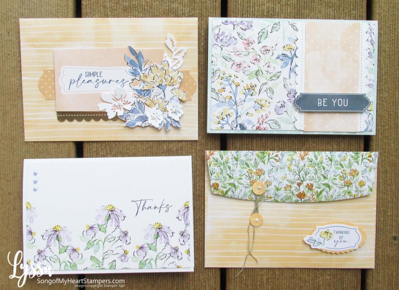 Hand penned petals Stampin Up suite sampler Lyssa memories more scrapbooking card packs