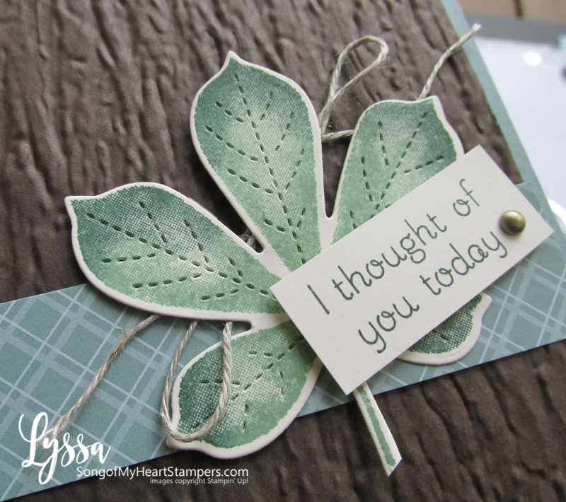 Love of Leaves stitched leaf fall autumn Stampin Up rubber stamps techniques Lyssa