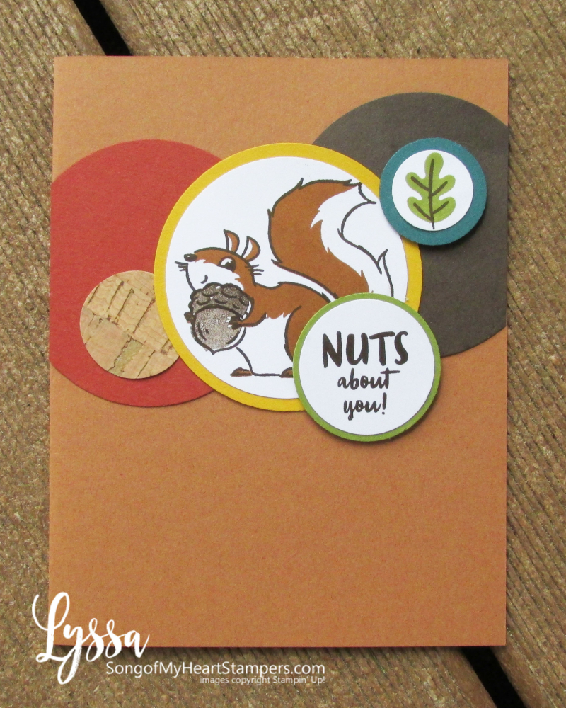 Nuts About You squirrels Stampin Up stamp set Lyssa fall autumn cartoon funny rubber stamps