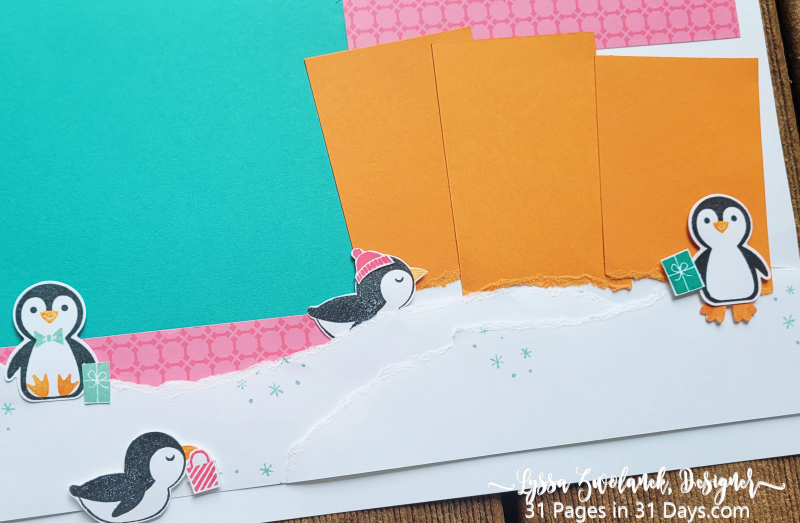 Penguin 31 Pages Days scrapbooking Stampin Up scan cut brother punch