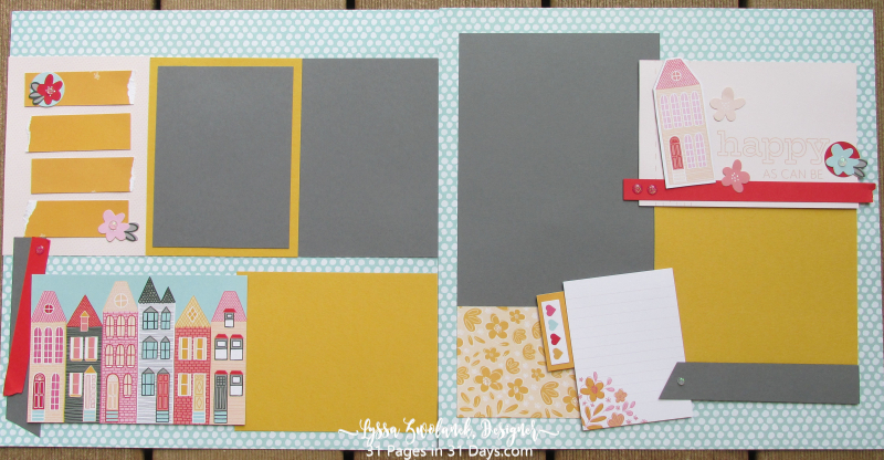 12x12 Pages 31 Days Lyssa Scrapbooking houses home new layout ideas album stampin up just moved
