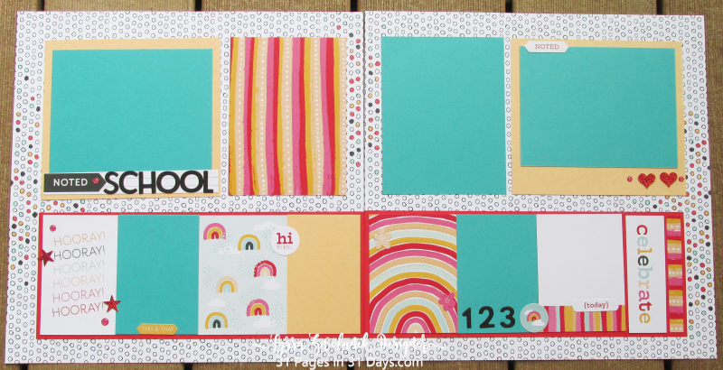 12 x12 Days Pages scrapbooking series Lyssa Stampin Up layout kids album back school