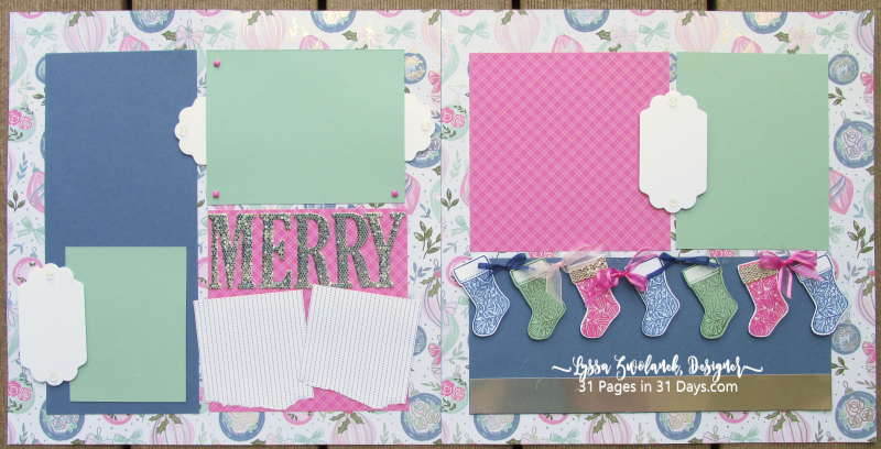 Lyssa 31 Pages Days scrapbooking blog series layouts ideas free giveaway